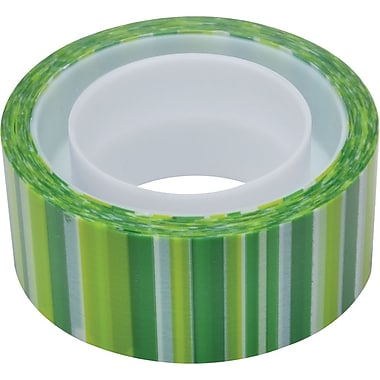 Scotch® Expressions Magic™ Tape, Green Lines Pattern, 3/4