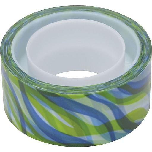 "Scotch® Expressions Magic™ Tape, Josephine Kimberling™ Tropical Wave Pattern, 3/4"" x 300"" Roll, 1"" Core"