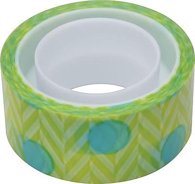 Scotch® Expressions Magic™ Tape, Blue Green Pattern, 3/4
