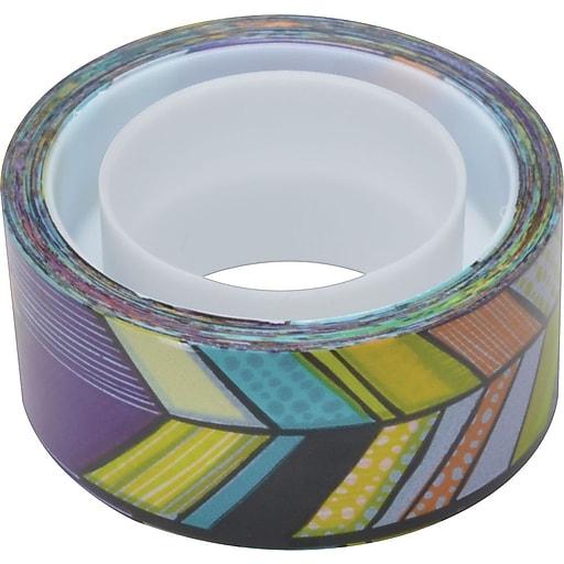 "Scotch® Expressions Magic™ Tape, Tribal Pattern, 3/4"" x 300"" Roll, 1"" Core"