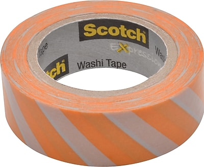 "Scotch® Expressions Washi Tape, Diagonal Stripe, 3/5"" x 393"""