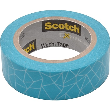 Scotch® Expressions Washi Tape Under 30 Yards Cracked Blue (C314-P28)