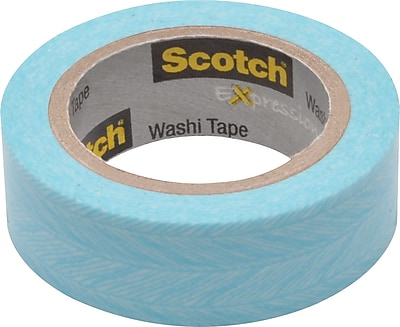 """Scotch® Expressions Washi Tape, 0.59"""" x 10.91 yds., Feather (C314-P27)"""