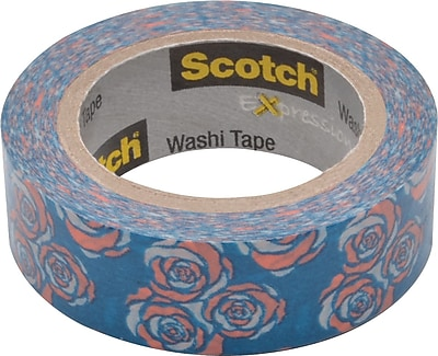 Scotch® Expressions Washi Tape, Vintage Rose, 3/5