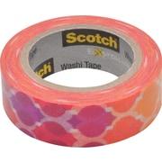"Scotch® Expressions Washi Tape, 0.59"" x 10.91 yds., Quatrefoil Sunset (C314-P19)"