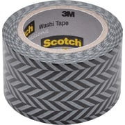"Scotch® Expressions Washi Tape, 1 3/16"" x 393"", Zig Zag Pattern (C314-P2)"