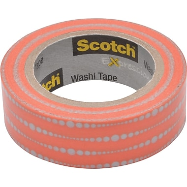 Scotch® Expressions Washi Tape, Bubble Dots, 3/5