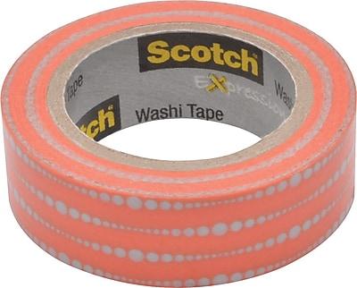 Scotch® Expressions Washi Tape, Bubble Dots, 3/5