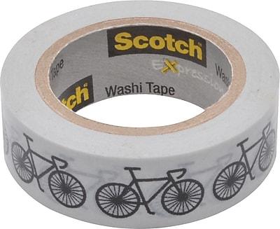 Scotch® Expressions Washi Tape, Bikes, 3/5