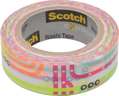 "Scotch® Expressions Washi Tape, Subway Map Pattern, 3/5"" x 393"""
