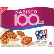 Chips Ahoy® 100-Calorie Pack Thin Crisps, .81 oz. Bags, 6 Bags/BX
