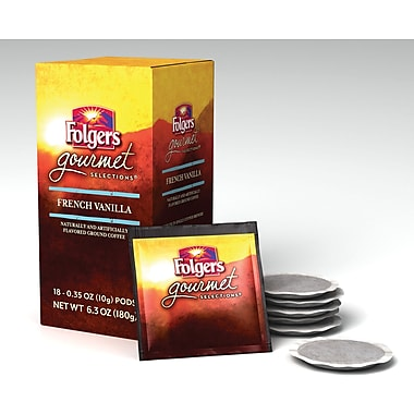 Folgers® French Vanilla Coffee Pods, Regular, 18 Pods