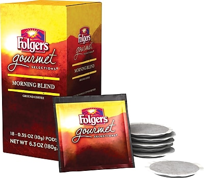 Folgers® Morning Blend Coffee Pods, Regular, 18 Pods