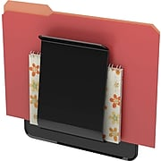 """Deflecto Stand-Tall® Hanging Wall File,  Letter,  Black,  1-Pocket,  10 5/8""""H x 9 1/4""""W x 1 3/4""""D"""
