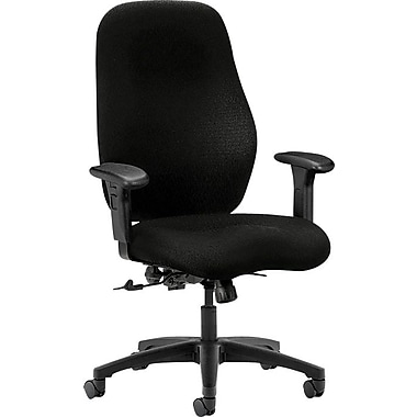 HON 7800 Series Fabric Computer and Desk Office Chair, Adjustable Arms, Black (H7803HNT10T)