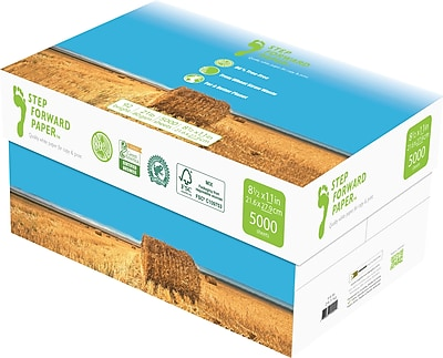 Step Forward 80% Wheat Straw FSC-Certified Copy Paper, 21 lb., 8 1/2