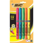 BIC® Brite Liner® Grip Highlighters, Yellow, Dozen