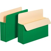 "Staples® Colored Top-Tab File Pockets, 3.5"" Expansion, Letter, Green, 25/Bx (1524EGRESB)"