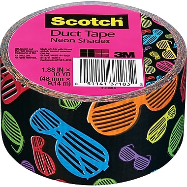 Scotch® Brand Duct Tape, Neon Shades, 1.88