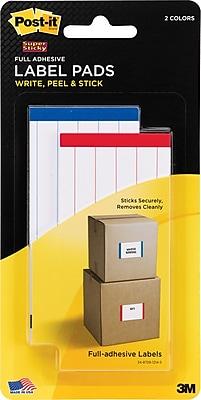 Post-it® Super Sticky Label Pads, 2