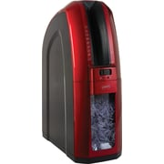 Staples®  Space-Saver 10-Sheet Cross-Cut Shredder, Red