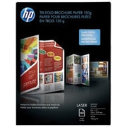 "HP Tri-Fold Laser Brochure Paper 08-1/2"" x 11"" Glossy Finish, 150/Pack (Q6612A)"