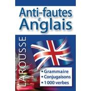 Larousse - Grammaire, anti-fautes d'anglais