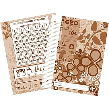Geo 100% Recycled & Recyclable Notebook, 40 Pages, Dotted Interlined