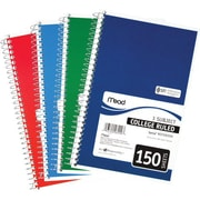 "Mead Five Star 3-Subject Spiral Notebook, 9-1/2"" x 6"""
