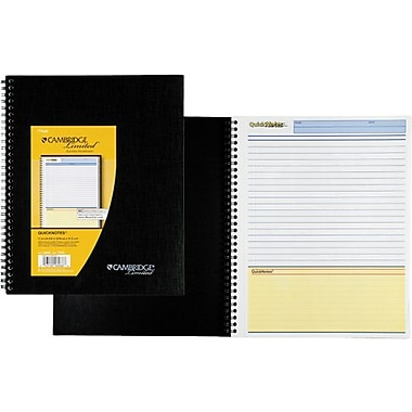 Cambridge Limited® QuickNotes® Business Notebook Black 8-1/2