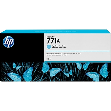 HP – Cartouche d'encre cyan clair DesignJet 771A (B6Y20A)