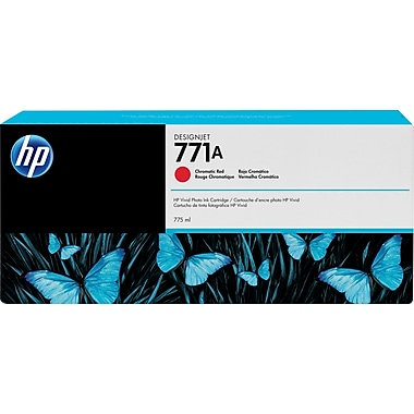 HP DesignJet 771A Chromatic Red Ink Cartridge, 3/Pack (B6Y40A)