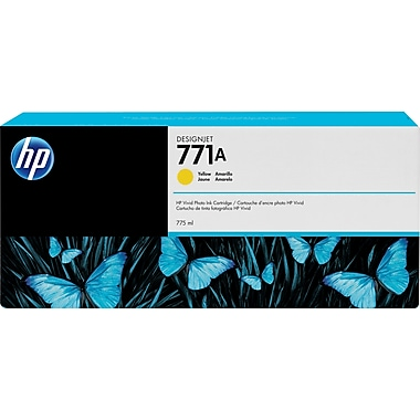 HP DesignJet 771A Yellow Ink Cartridge, 3/Pack (B6Y42A)