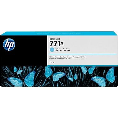 HP DesignJet 771A Light Cyan Ink Cartridge, 3/Pack (B6Y44A)
