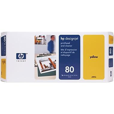 HP – Tête d'impression jaune et nettoyant DesignJet 80 (C4823A)
