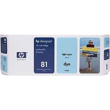 HP DesignJet 81 Light Cyan Dye Ink Cartridge (C4934A)