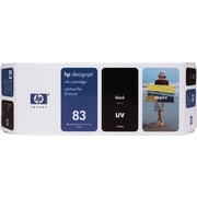 HP DesignJet 83 Black UV Ink Cartridge (C4940A)