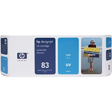 HP DesignJet 83 Cyan UV Ink Cartridge (C4941A)