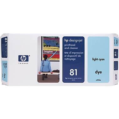 HP DesignJet 81 Light Cyan Dye Printhead and Cleaner (C4954A)