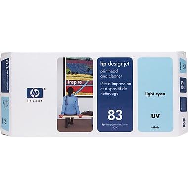 HP – Tête d'impression UV cyan clair et nettoyant DesignJet 83 (C4964A)