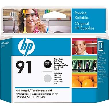 HP – Tête d'impression noire photo et grise claire 91 (C9463A)