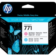 HP – Tête d'impression magenta clair et cyan clair 771 (CE019A)