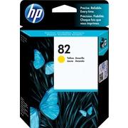 HP – Cartouche d'encre jaune 82 (CH568A)