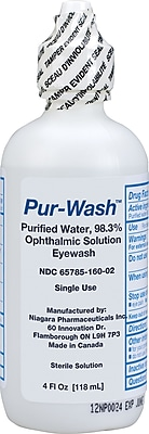 First Aid Only™ Pur-Wash™ Eye Wash, Screw Top Bottle, 4 oz.