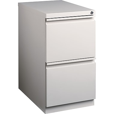 Staples 2-Drawer Mobile Pedestal File Cabinet, Putty (23-Inch)