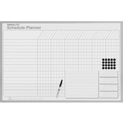 Magna Visual Magnetic Schedule Planning Board, Gray Aluminum Frame, 36 inch W x 24 inch H by