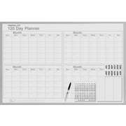 Magna Visual Magnetic 120 Day Planning Board, Gray Aluminum Frame, 48 inch W x 36 inch H by