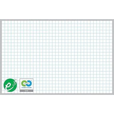 Magna Visual Porcelain Magnetic Gridded Dry-Erase Board, Aluminum Frame, 48