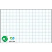 """Magna Visual Porcelain Magnetic Gridded Dry-Erase Board, Aluminum Frame, 72""""W x 48""""H, 1""""H x 1""""W grid"""