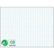 """Magna Visual Porcelain Magnetic Gridded Dry-Erase Board, Aluminum Frame, 36""""W x 24""""H, 1""""H x 2""""W grid"""